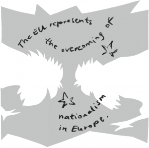 Illustration: The EU represents the overcoming...
